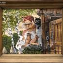 Баба Яга. Живопись на бересте. Автор Л.Ю. Корнилова. Фото Татьяны Шепелевой. Сен