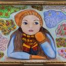 Елена Чудновская. 15 лет. Мечтательница. Бумага, акварель